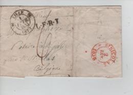 PR7497/ Précurseur LAC C.Lille 1835 L.F.R.T. écrit De Ryssel > St.Gillis (St.Nicolas) C.d'arrivée - 1801-1848: Precursores XIX