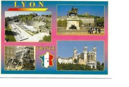 69 LYON Cpm Multivues - Francia
