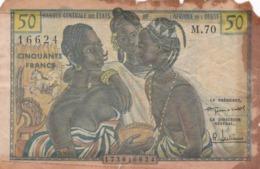 BILLET 50 FRANCS CFA BCEAO PICK 1 RARE VOIR SCAN - Estados De Africa Occidental