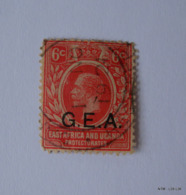 KENYA UGANDA TANGANYIKA -6c. Stamp Of Kenya Uganda & Tanganyika Over Printed G.E.A. Used. - Protectorados De África Oriental Y Uganda