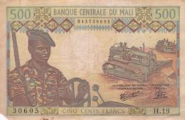 BILLET 500 FRANCS  PICK 12 RARE VOIR SCAN - Mali