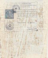 Argentina.  1961. Marca Municipale 20 Pesos, Su Documento - Argentina