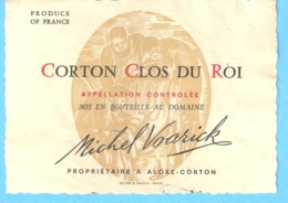 Etiquette-Vin De Bourgogne-Corton Clos Du Roi- Michel Voarick à Aloxe-Corton (Côte D'Or) - Bourgogne