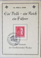 Germany Hitler 1938 Ein Volk Ein Reich Ein Führer - Non Classificati