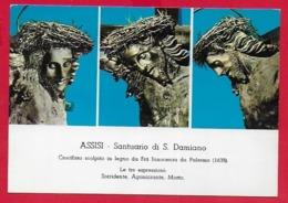 CARTOLINA VG ITALIA - ASSISI - Santuario Di S. Damiano - Crecefisso  Fra Innocenzo Da Damiano - 10 X 15 - 1967 - Gesù
