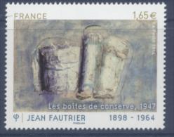 N° 4888 Jean Fautrier Faciale 1,65 € - Ongebruikt