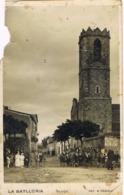 34285. Postal LA BATLLORIA (barcelona) Plaza De La Iglesia, Animada. Defectos - Barcelona