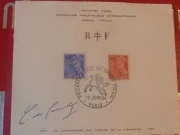 DE GAULLE SIGNE AUTOGRAPHE Philatec Paris Exposition Philatelique Internationale Grand Palais 19 Juin 1964 Mercure RF - Autogramme & Autographen