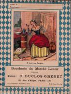 """B D G/ Protège-cahiers Illustrés >Boucherie Du Marché Lenoir """"C Duclos Grenet"""" ( Il était Une Bergère)  (N= 1) - Book Covers"""