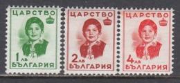 Bulgaria 1937 - Princesse Marie-Louise, YT 296/98, MNH** - 1909-45 Kingdom