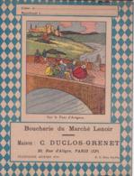 """B D G/ Protège-cahiers Illustrés >Boucherie Du Marché Lenoir """"C Duclos Grenet"""" ( Sur Le Pont D'Avignon)  (N= 2) - Book Covers"""