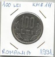 C1 Romania 100 Lei 1991. KM#111 - Roemenië