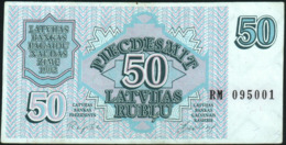 LATVIA - 50 Rublu 1992 {Latvijas Banka} VF P.40 - Letland