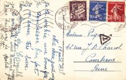 CPA 35 @ SAINT MALO - TAXE De 50 CENTIMES De 1938 - Y&T N° 37 - Strafport
