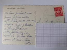 FM 12 Sur CPSM Avec Cachet Du Vaguemestre De Port Etienne - Mauritania (1906-1944)