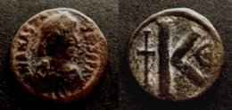 BYZANCE - ANASTASIUS  I  491-518  - HALF FOLLIS - CONSTANTINOPLE   – BYZANTINE  - DEMI FOLLIS ANASTASE I - Bizantine
