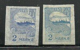 ESTLAND Estonia 1920 Michel 17 A + B * - Estland