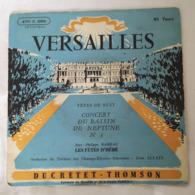 VERSAILLES Concert Du Bassin De Neptune N° 1 Jean Philippe Rameau Les Fêtes D'Héné Ducretet Thomson Lemoine Jean Allain - Clásica