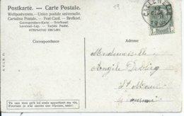 Fantasiekaart Met OCB 53 - Afstempeling CALLENELLE - COBA 8 - 1893-1907 Wappen