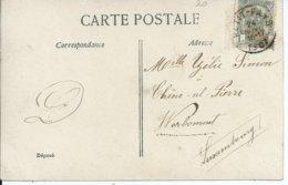 Fantasiekaart Met OCB 53 - Afstempeling PETIT-FAYS - COBA 8 - 1893-1907 Wappen