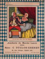 """B D G/Protège-cahiers Illustrés >Boucherie Du Marché Lenoir """"C Duclos Grenet""""(J Ai Du Bon Tabac Dans Ma Tabatière)(N=3) - Book Covers"""