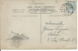 Fantasiekaart Met OCB 81 - Afstempeling AMPSIN - COBA 8 - 1893-1907 Wappen