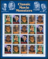 USA Kleinbogen Monster/Dracula/Frankenstein & Co. UNITED POST SERVICES 20SET 1997 RARE - Nuovi