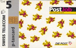 SWITZERLAND - Die Post Post Job ,09/96 , Tirage 4.900, 5 Fr, Used - Zwitserland