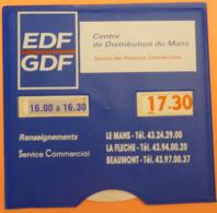 DISQUE DE STATIONNEMENT LE MANS - EDF GDF - 2 SCANS - Voitures