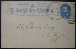 USA 1892 Bel Entier Postal Grand Island Nebraska WW Cornelius County Treasurer - Ganzsachen