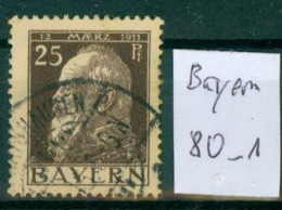 Bayern  MiNr. 80      O / Used  (L962) - Bavaria