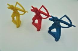 Tiru Wee Tinu Niee, 3 Indians , Made In Germany, Vintage, Lot, Toy Soldiers - Figurines