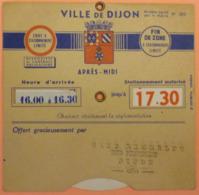 DISQUE DE STATIONNEMENT DIJON - CAFE MICHELET - 2 SCANS - Voitures