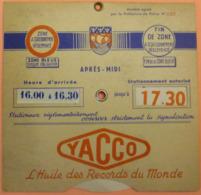 DISQUE DE STATIONNEMENT PARIS - YACCO - 2 SCANS - Voitures