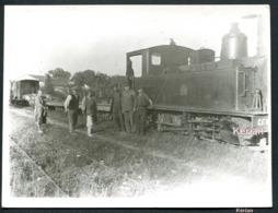 Photo Cartonnée Format 115 X 87 - En Gare De Gevigney En 1908 C.V.F  Haute-Saône - Ligne Jussey - Gray - Sonstige Gemeinden