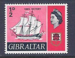 Gibraltar, Scott # 186 MNH HMS. Victory, 1967 - Gibraltar