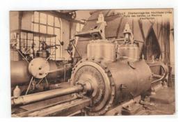 8  GILLY  Charbonnage Des Huillières Unies  Puits Des Vallées. La Machine D'extraction - Liege