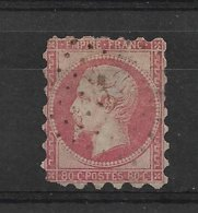 FRANCE  NAPOLEON III  N° 17  OBLITERE  PIQUAGE  ?  SUSSE?   2° CHOIX CLAIR ET DECHIRURE - 1853-1860 Napoléon III