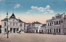 Amstetten * Bahnhof, Hotel, Auto, Stadtteil * Österreich * AK1464 - Amstetten