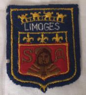 Ecusson Blason Armoiries LIMOGES 87 Souvenir Tissu - Ecussons Tissu