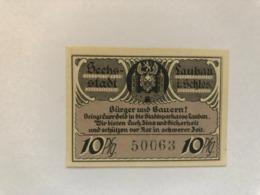 Allemagne Notgeld Lauban 10 Pfennig - [ 3] 1918-1933 : République De Weimar