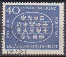 BRD 1963 MiNr.398  100.Jahrestag Der Ersten Internationalen Postkonferenz, Paris ( A670 ) Günstige Versandkosten - BRD