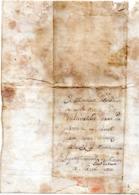 Lettre De Pierre COMPTES, Soldat 103é Régiment De Ligne, - CHERBOURG, Fort De QUERQUEVILLE - MONTREVELLE - Ain - 1812 - Old Paper