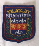 Ecusson Blason Armoiries BRANTOME  Souvenir Tissu - Ecussons Tissu