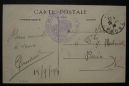Lyon 1914 Service Des Fabrications De L'aviation Militaire Sur Carte De Lyon (Les Mouettes Lyonnaises) - Postmark Collection (Covers)