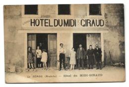 LE BEAGE (07) HOTEL Du MIDI-GIRAUD  - PRIX FIXE - Frankreich