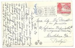 SUISSE - COUPE DU MONDE DE FOOTBALL 1954 - Oblitération Annonçant L'évènement Sur Carte Postale De Zurich - Postmark Collection