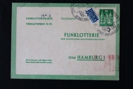 40778) ALL. BESETZUNG Am. + Brit. Zone Ganzsache FP 2 III Gestempelt Aus 1950 - Bizone