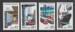 SERIE NEUVE D'ALLEMAGNE ORIENTALE - TRANSPORTS PAR CONTAINERS N° Y&T 1995 A 1998 - Trucks