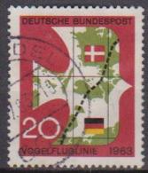 BRD 1963 MiNr.399 Einweihung Der Vogelfluglinie Deutschland - Kopenhagen ( A674 ) Günstige Versandkosten - BRD